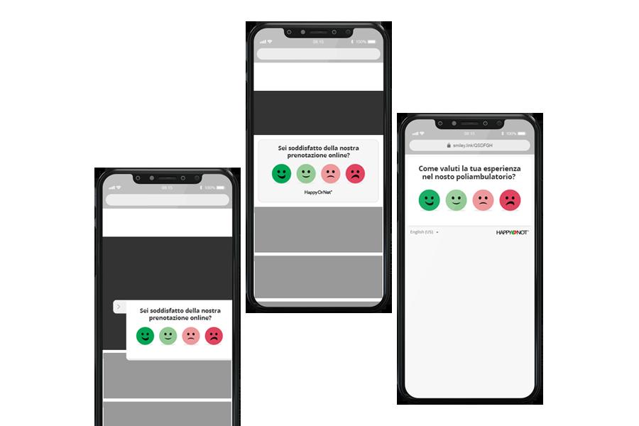 Dispositivi mobile per customer satisfaction digitale e gradimento utenti