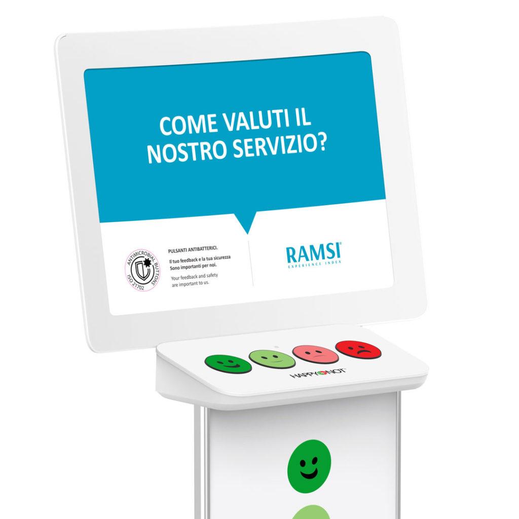 RAMSI Smiley Terminal per sondaggio sull'esperienza dei pazienti