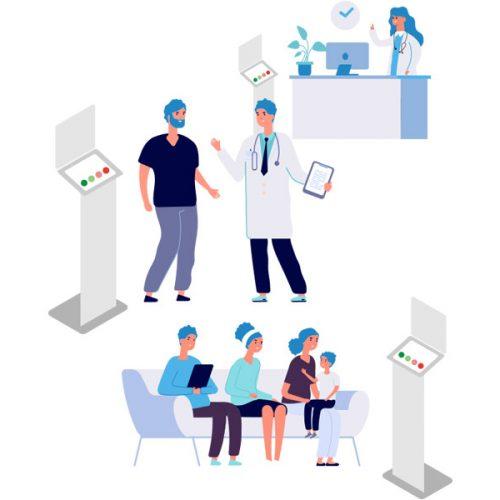 RAMSI aree di valutazione paziente con smiley touch